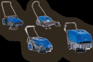 Nilfisk-Alto Mitgänger-Kehrmaschinen
